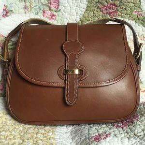 VTG Dooney & Bourke Bridle Leather Shoulder Bag